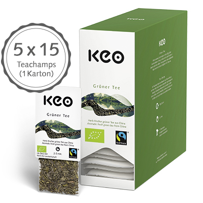 Grüner Tee, Bio/Fairtrade (75 Teachamps à 4,0 g / 300 g)