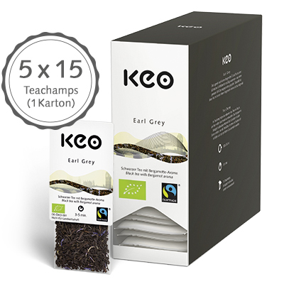 Earl Grey, Bio/Fairtrade (75 Teachamps à 4,5 g / 337,5 g)